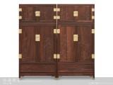 【红木家具】红酸枝 花鸟顶箱柜 柜架