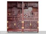 【红木家具】红酸枝 龙头多宝格 柜架