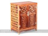 【红木家具】越黄攒格矮柜 柜架(单个)