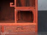 红酸枝 花鸟多宝格 仙源红木家具