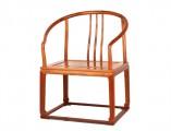 【红木家具】草花梨 条梳背式素圈椅