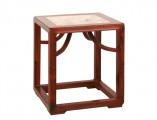 【红木家具】红酸枝 嵌大理石方凳