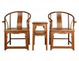 【红木家具】檀香花梨 卷草纹圈椅三件套