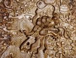 【红木家具】金丝楠 雕龙顶箱柜