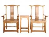 【红木家具】金丝楠 四出头官帽椅三件套