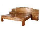 【红木家具】金丝楠 素面高低床