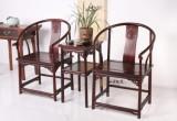 红酸枝 寿字纹圈椅三件套