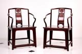 小叶紫檀高扶手官帽椅 客厅家具