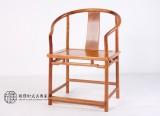 缅甸花梨明式素圈椅 中式古典家具