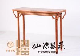 缅甸花梨木一腿三牙条桌 中式仿古书房家具 斫璞定制家具