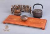 缅甸花梨木 茶盘托盘 仙源红木家具